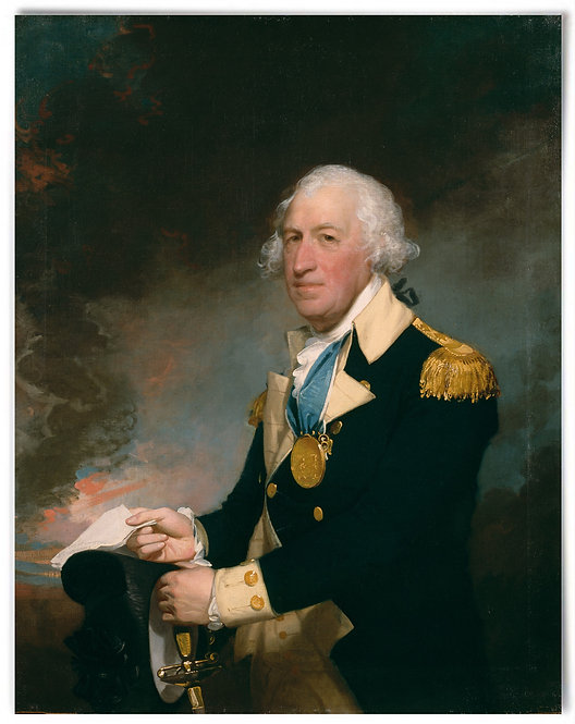"Horatio Gates, ca 1793–94 (artist: Gilbert Stuart) - 22x28"" print"