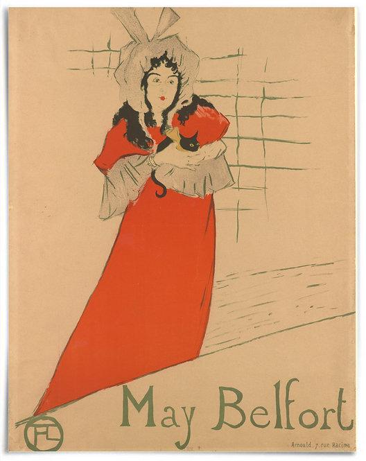 May Belfort,1895 - Henri de Toulouse-Lautrec - Poster 22x28 Inches