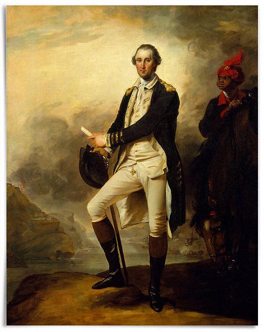"POSTER: George Washington,1780 (Artist: John Trumbull) - 22""x28"""