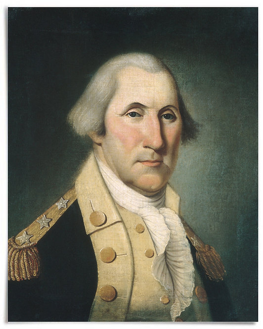 "POSTER: George Washington, ca. 1790 (Artist: Charles Peale Polk) - 16""x20"""