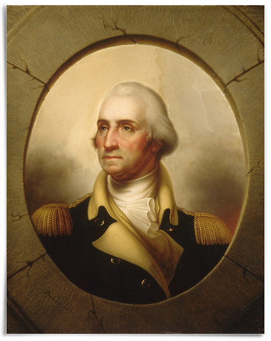 "POSTER: George Washington, ca. 1846 (Artist: Rembrandt Peale) - 22""x28"""
