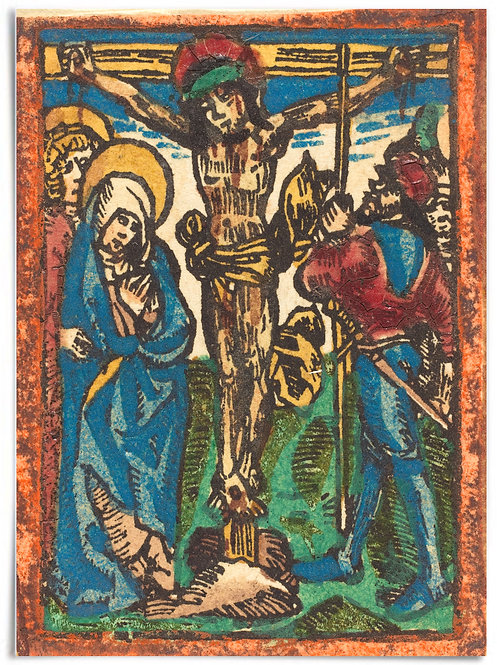 18x24 Poster - German 15th Century Woodcut, The Crucifixion c. 1490-1500