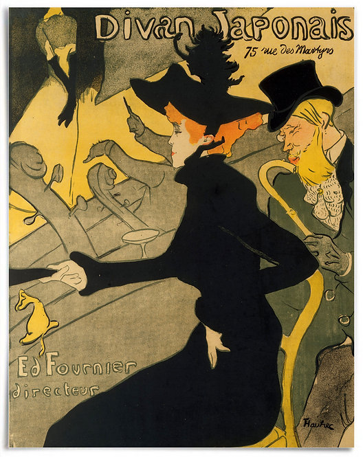 Divan Japonais,1892–93 - Henri de Toulouse-Lautrec - Poster 22x28 inches