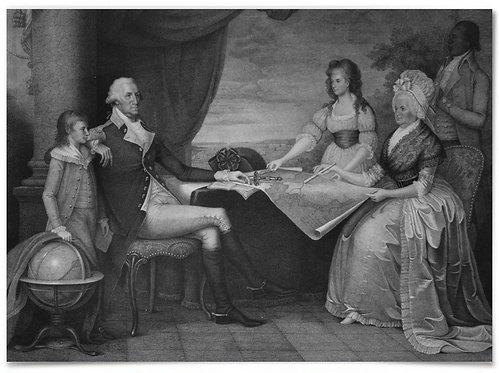 """The George Washington Family (based on Edward Savage painting) - 22""""x28"""""""