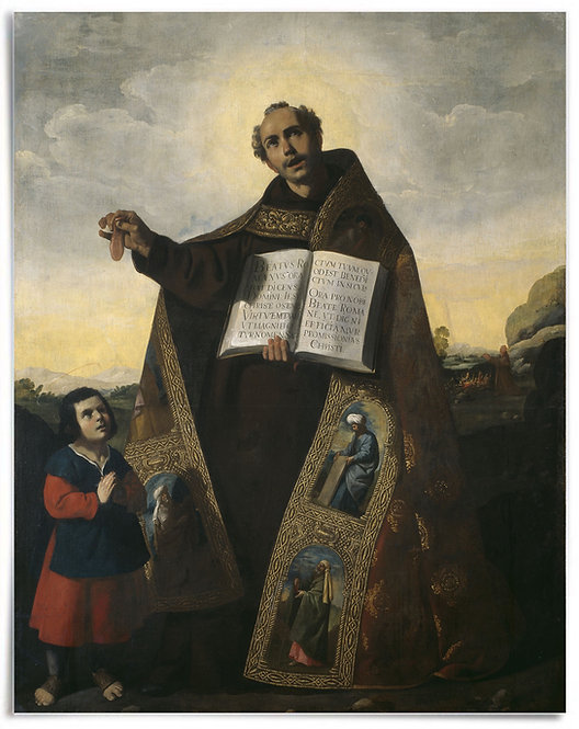 22x28 Print: Saint Romanus of Antioch +Saint Barulas, Francisco de Zurbarán 1638