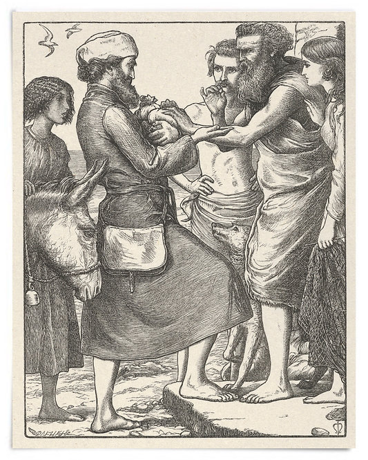 16x20 Print: The Pearl of Great Price (The Parables of Our Lord...) - Millais
