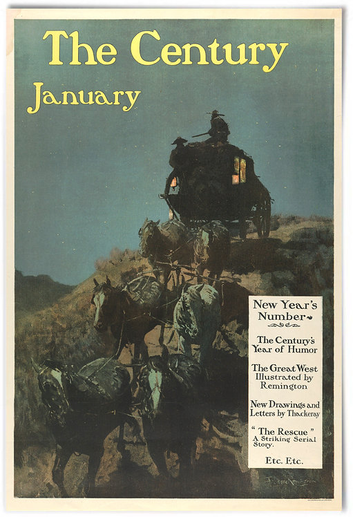 Frederic Remington, The Century, January - 24x36""