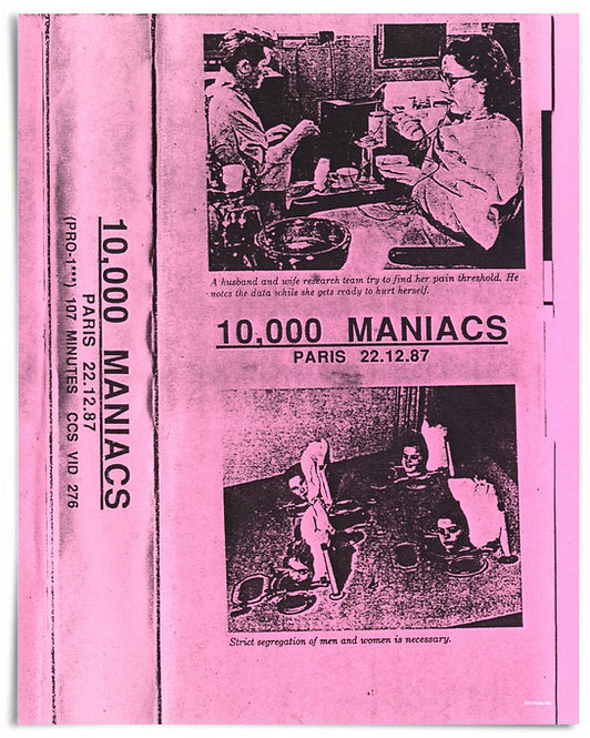 "10,000 Maniacs, 1987 Paris, Bootleg VHS Artwork - 16""x20"" Print"