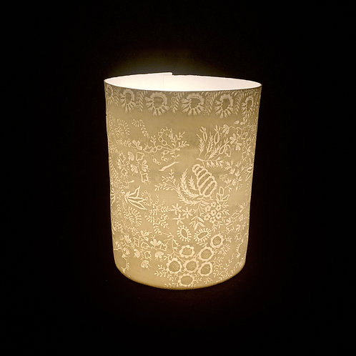 Green lace  T light holder