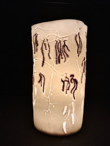 61. Catkins with lustre lamp