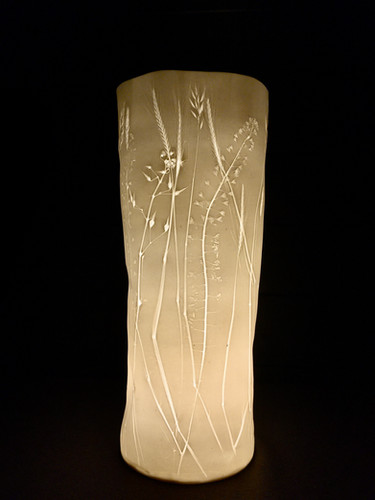 51. Grasses and hearts lamp