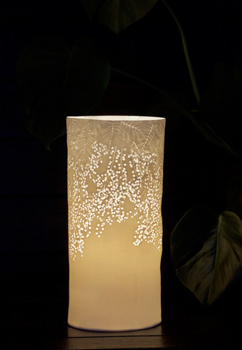 30. Mimosa & leaves lamp