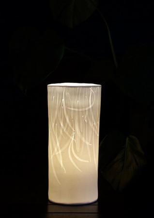 28. Slim Mimosa leaves lamp