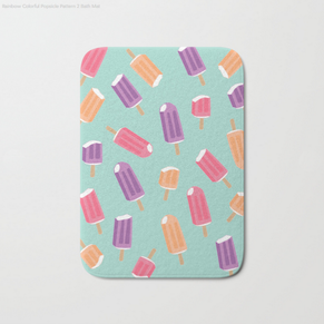 Popsicles bath mat available on Society6