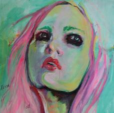 """23.5""""x30"""", acrylic on canvas"""