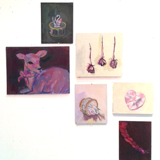 Acrylic on various supports, assorted sizes.