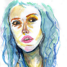 Watercolor on paper.