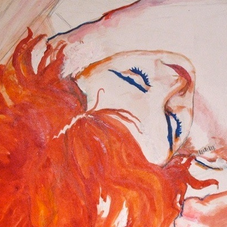 Watercolor on paper. Detail