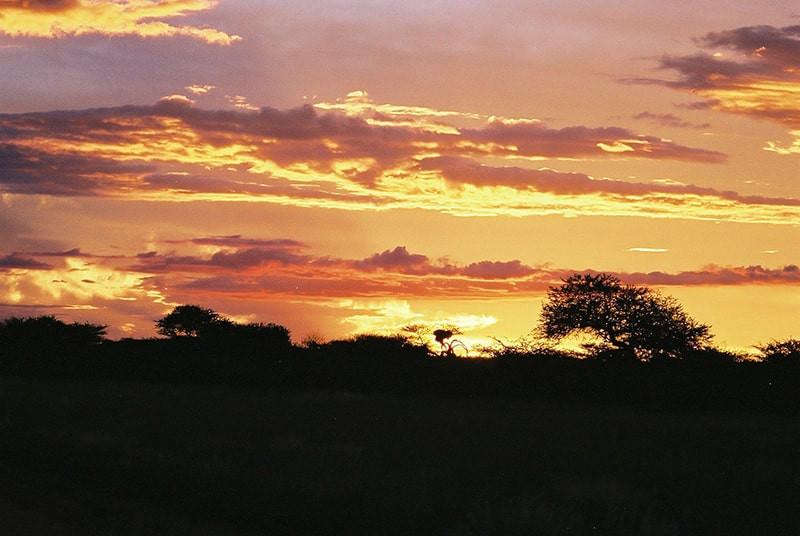 Sonnenuntergang-Farm-jagdfarm-namibia-ka