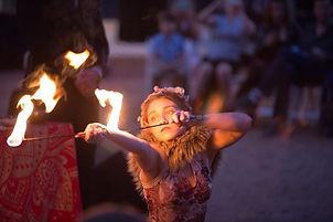 Austin Performer Circus Acrobat Wedding Ceremony Performance Dancer Fire