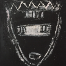 Acrylic/ Chalk On Paper