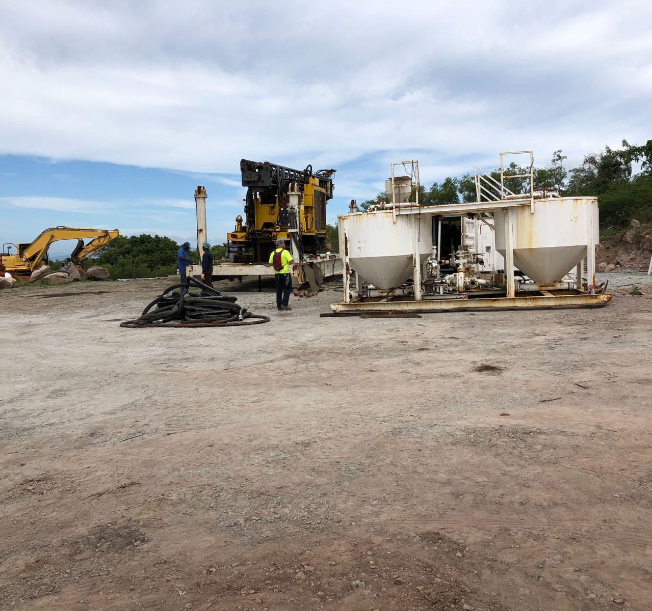 Nevis Rig w Mud Mixing Preparation