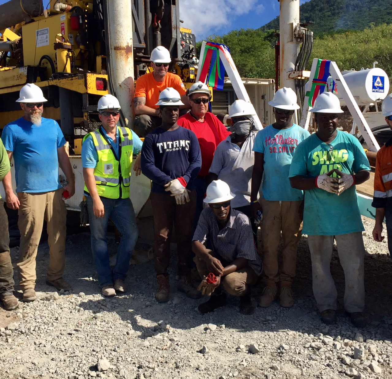 Nevis_Geothermal_Test Well Crew