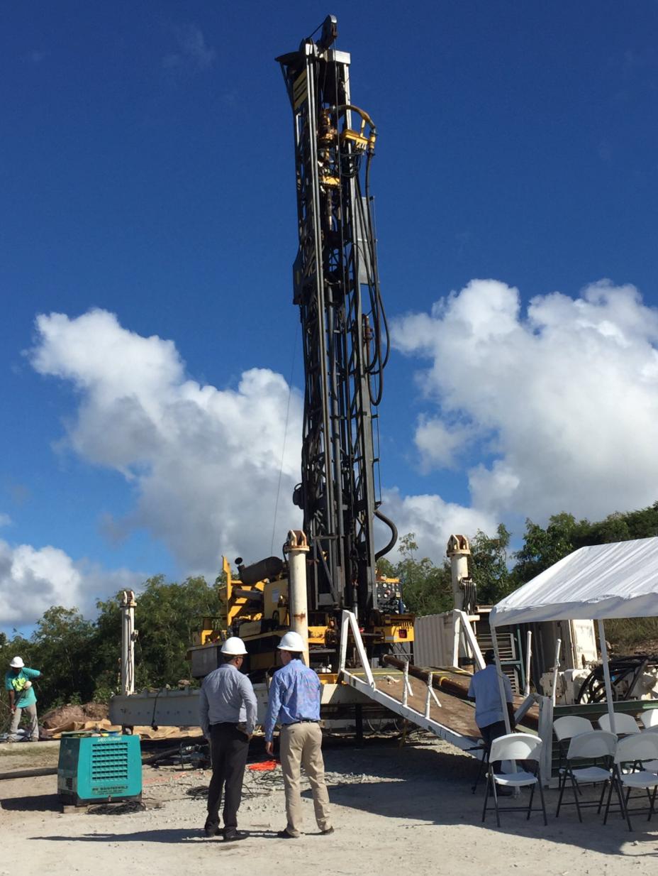 Nevis_Geothermal_Test Well Rig_Begins