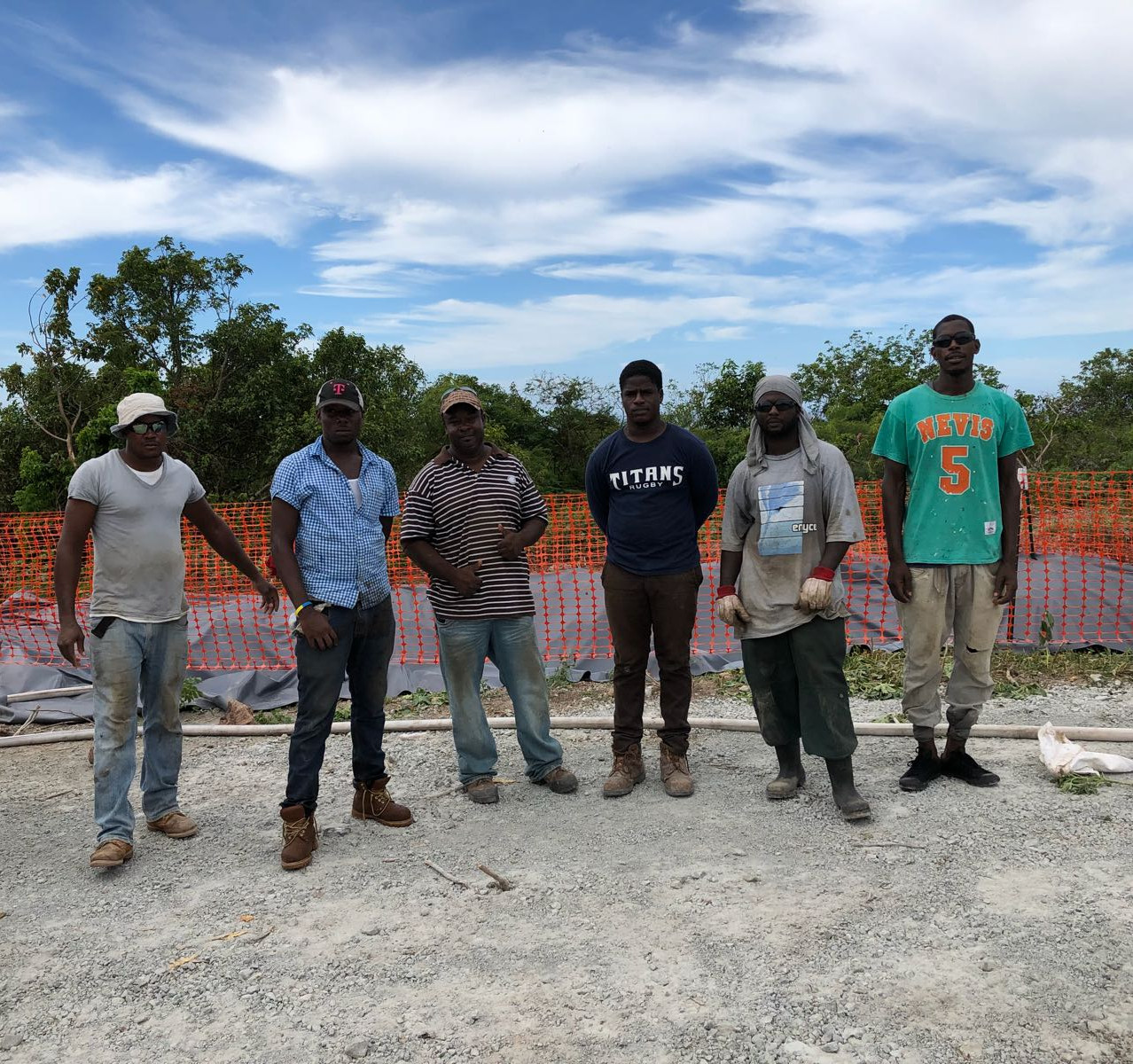 Nevis Rig w Local Employees
