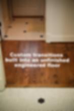 Custom wood flooring transitions