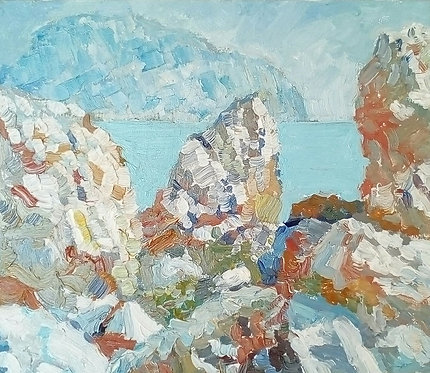 Вид из бухты на Аюдаг