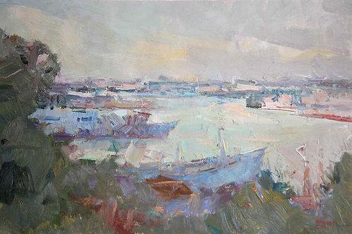 Севастопольская бухта. Вечер.