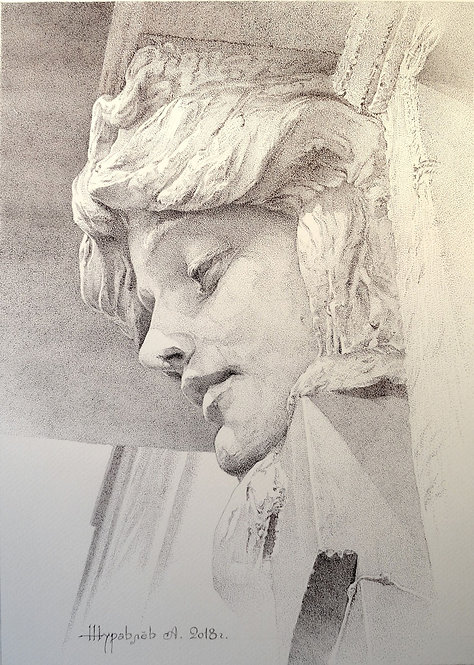 Женский маскарон