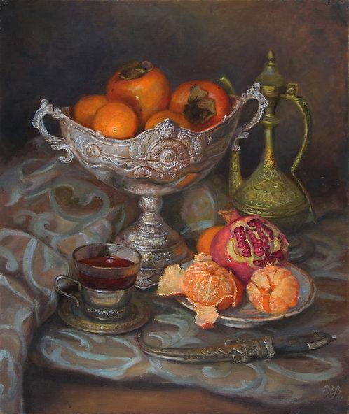 Хурма и мандарины