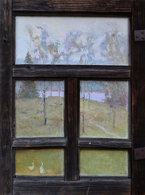 За окном бабы Маши