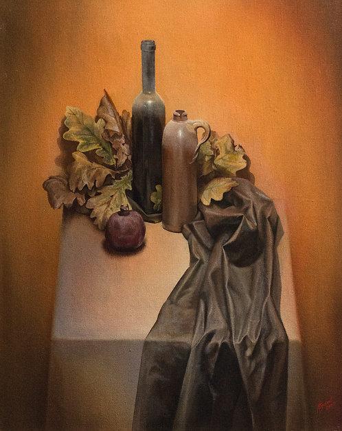 Натюрморт с дубовыми листьями