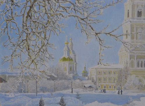 Зима в Дивеево.