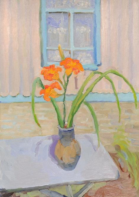 Лилейник в вазе