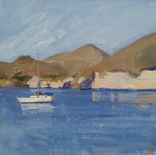 """""""Накатилась волной тишина"""". Греция, о. Санторини, Красный пляж."""
