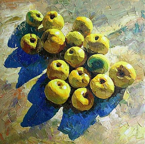Последние яблоки.