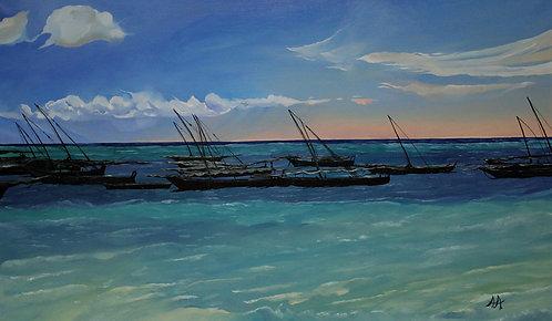 Лодки в океане