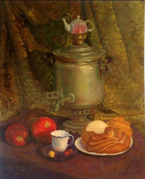 Чаепитие с московской сдобой