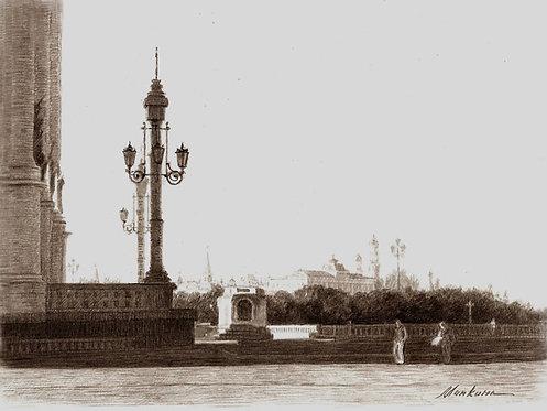 Вид на Кремль от Храма Христа Спасителя