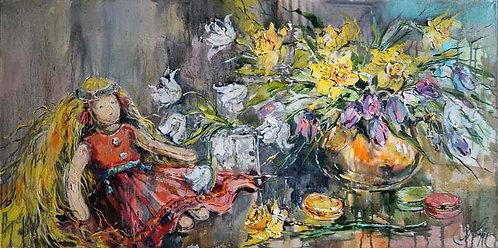 Цветы и марципаны