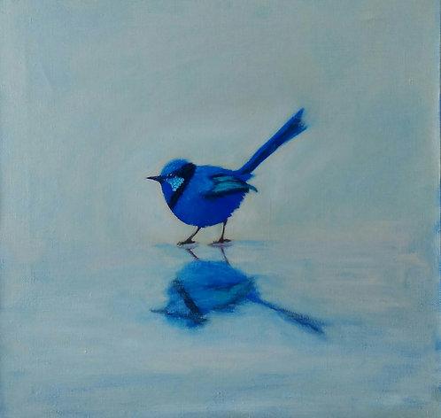 Голубая птичка
