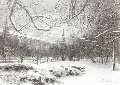 Александровский сад  зимой