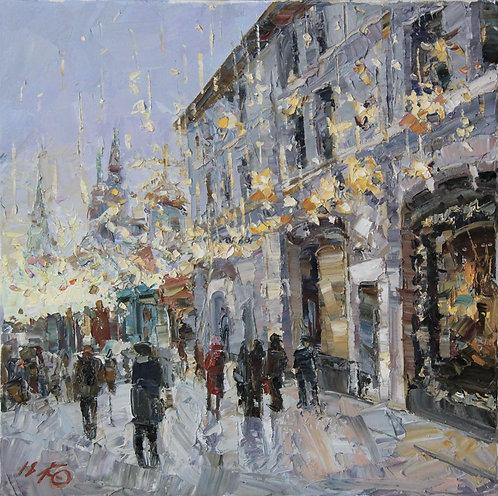 Москва новогодняя. На Никольской