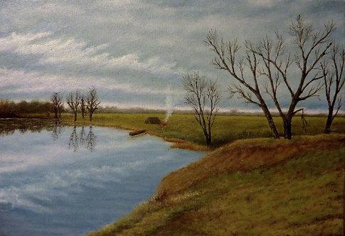 Река Няньга. Апрельское утро