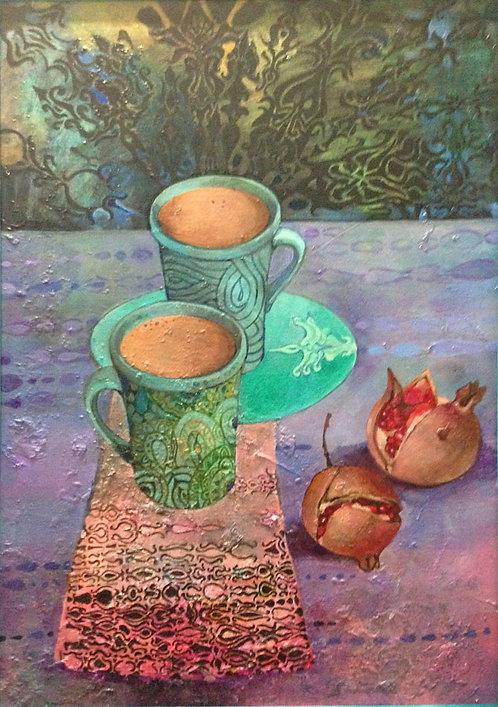Гранатовый раф-кофе