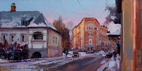Зимний вечер на Спиридоновке
